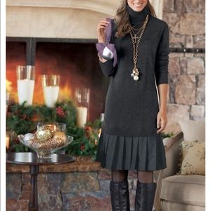 Soft Surroundings Gray Chloe Knit Dress Size Small